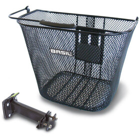 Basil Bremen BE Front Wheel Basket with BasEasy adapter plate and holder schwarz